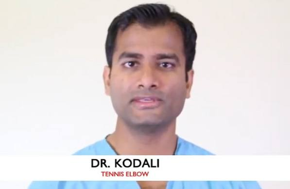 Dr Kodali talks about Tennis Elbow